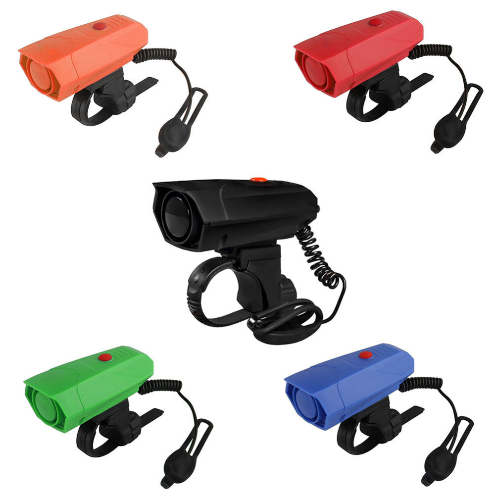 New Bicycle Bell Cycling Horns Electronic Bike Handlebar Ring Strong Loud Warning Air Alarm Bells Sound Bikes Horn Safety