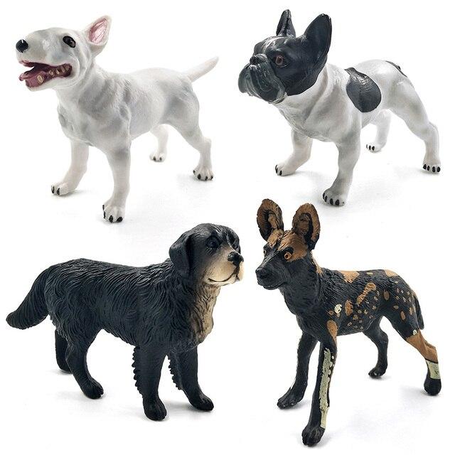Dalmatian Bull Terrier Labrador dog figurine Animal Model Bonsai home decor miniature fairy garden decoration accessories modern 5