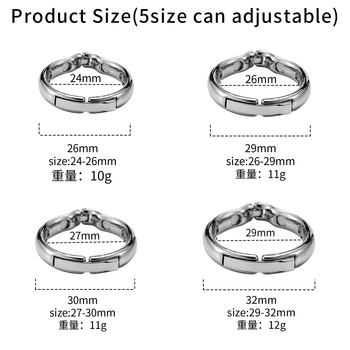 Runyu Magnet Cock Ring Metal Penis Sleeve For Male Extender Penis Enlargement Condoms Sex Toys Intimate Goods Ring On The Penis 4