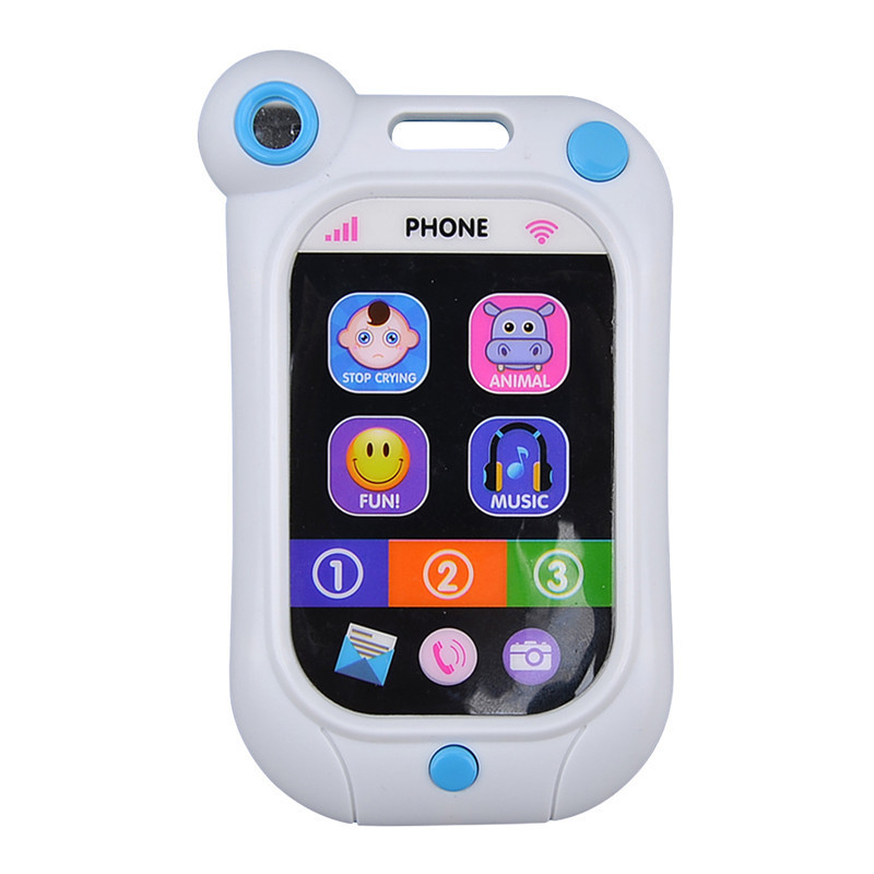 mobile phone baby education toys Infant stop crying machine infant toys  artifact simulation smartphone baby bed bell