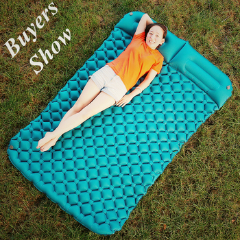 Air Camping Mats Inflatable Cushion Moistureproof Outdoor Hiking Picnic Tent Plaid Pad Home Rest Double Sleeping bag Mattress trackman double camping mat automatic inflatable mattress with pillow large size sleeping pad beach hiking travel mats