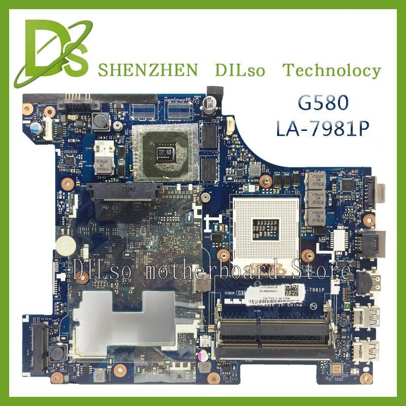 SHUOHU For Lenovo G580  QIWG5_G6_G9 LA-7981P REV:1.0 laptop motherboard 100% tested mainboard brand new for lenovo g580 motherboard qiwg5 la 7982p rev 1 0 notebook mainboard la 798