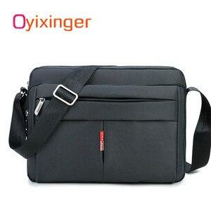 Image 1 - 높은 품질 남자 메신저 서류 가방 가방 작은 용량 서류 가방 좋은 방수 나일론 남성 비즈니스 어깨 가방 IPAD