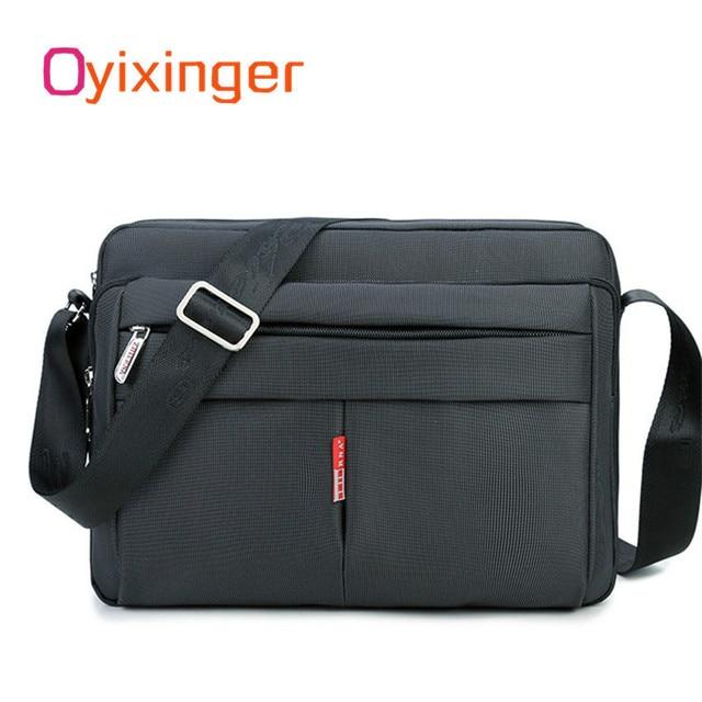 높은 품질 남자 메신저 서류 가방 가방 작은 용량 서류 가방 좋은 방수 나일론 남성 비즈니스 어깨 가방 IPAD
