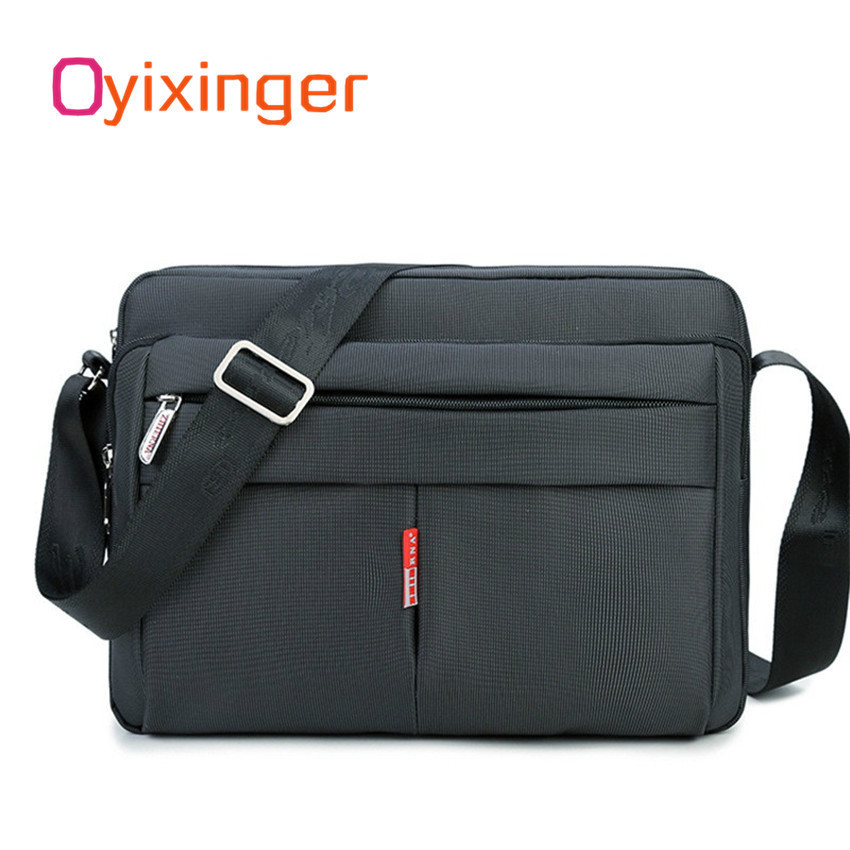 Oyixinger High Quality Man Notebook Bag Large Capacity Briefcase Good Nylon Business Laptop Bags Shoulder Messenger Briefcase laser a2 workbook with key cd rom
