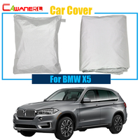 Cawanerl Free Shipping ! Car Cover Rain Snow Sun Resistant Cover Sun Shield Cover Anti-UV Dustproof For BMW X5