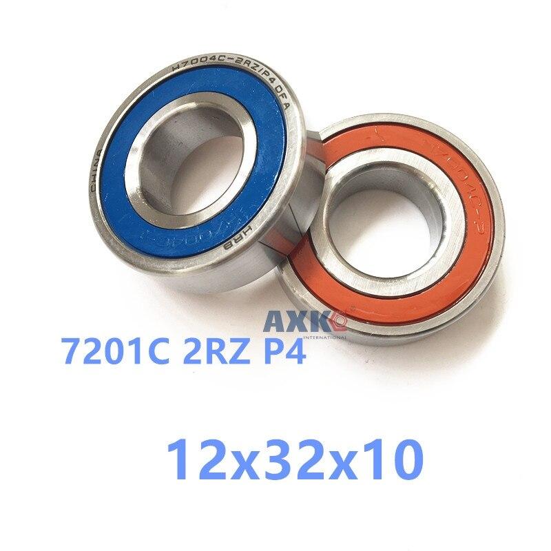1pcs 7201 7201C 2RZ P4 12x32x10 AXK  Sealed Angular Contact Bearings Speed Spindle Bearings CNC ABEC-7 1pcs 71822 71822cd p4 7822 110x140x16 mochu thin walled miniature angular contact bearings speed spindle bearings cnc abec 7