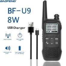 1PCS BAOFENG BF U9 8W Portable MINI Walkie Talkie With Handheld Hotel Civilian Radio Comunicacion Ham HF Transceiver
