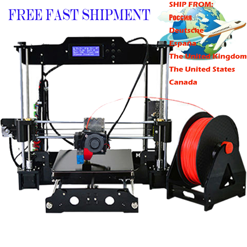 2017 Classic 3d printer support auto level high accuracy printing 3D printer free filament and 8GB
