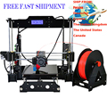 2017 Classic 3d printer support auto level high accuracy printing 3D printer free filament and 8GB card make lovely toys for you