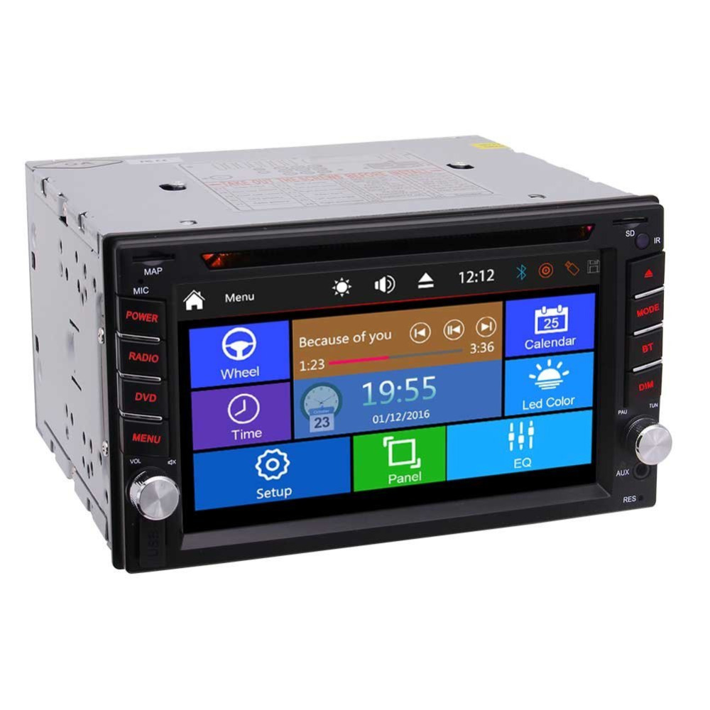 Double Din Car Stereo In-Dash Car DVD/CD Player 6.2'' Multi-Touch Capacitive Screen Stereo Autoradio Bluetooth Monitor Headunit double 2 din car autoradio stereo headunit 6 2 multi touch capacitive screen car dvd cd player mp3 mp4 usb tf bluetooth aux