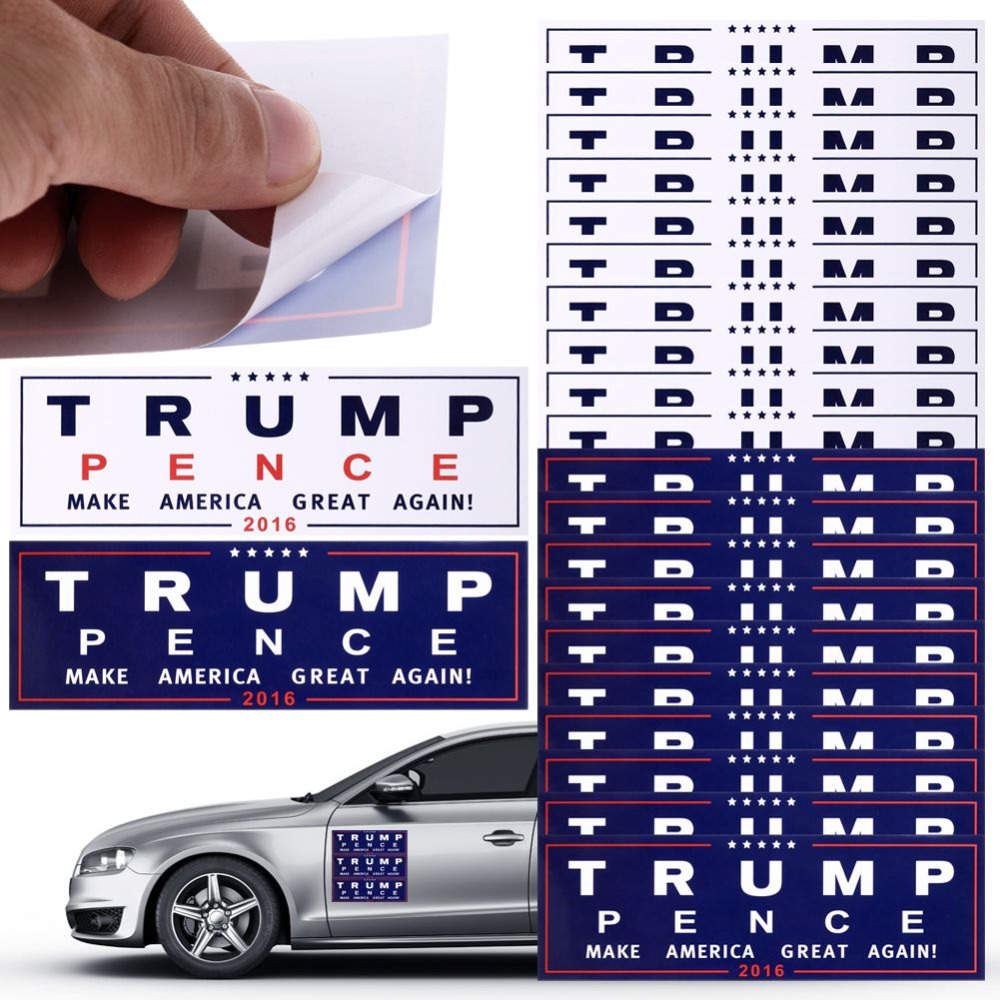 Car sticker design shop - 10pcs President Donald Trump Make America Great Again Bumper Car Wall Sticker Easy Clean