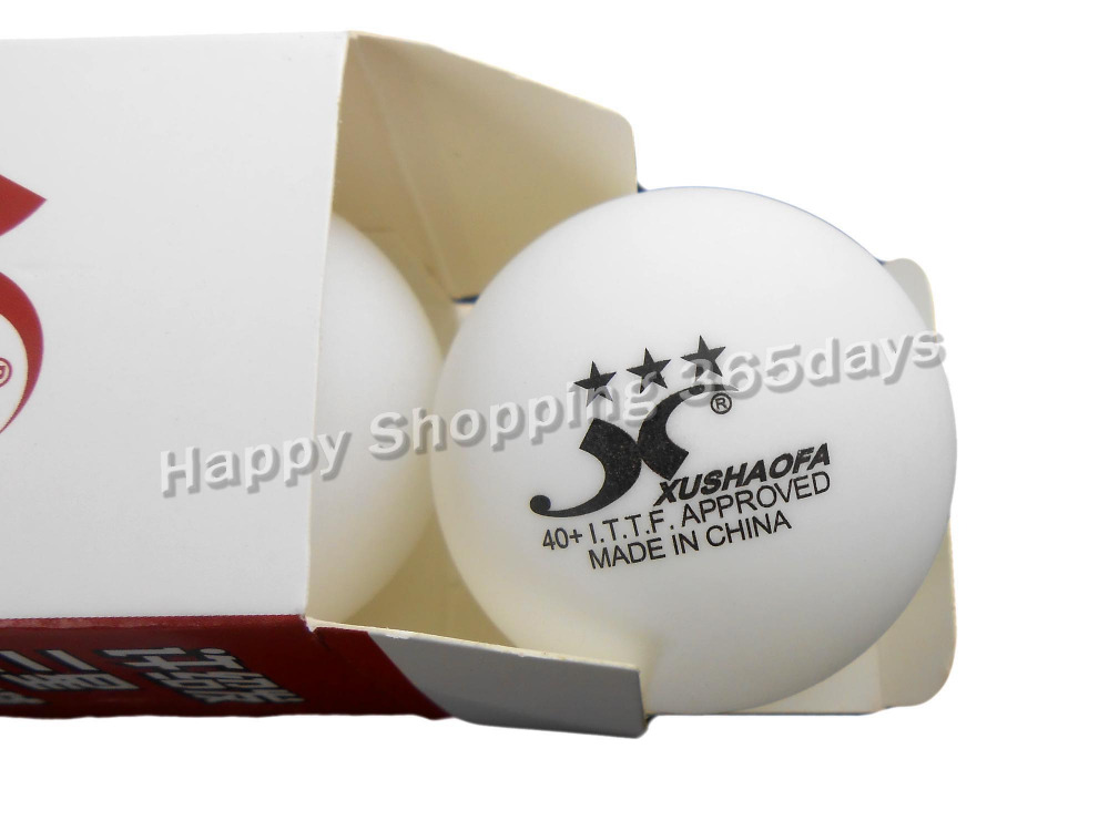 6x XUSHAOFA 40+ Table Tennis Balls White 3 Stars