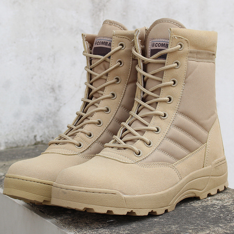 Mhysa 2018 Men Desert Tactical Military Boots Mens Work Safty Shoes SWAT Army Boot Zapatos Ankle Lace-up Combat Boots L410