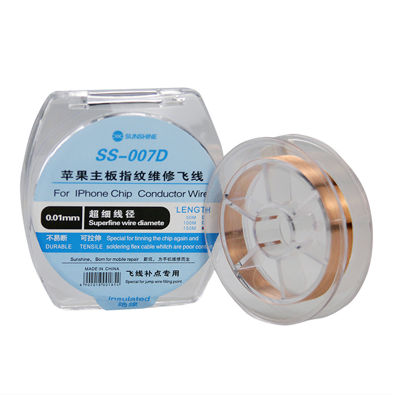 0.01mm Insulate IPhone Motherboard Jump Line Chip Conductor Fly Jumping Wire For Fingerprint Motherboard Repair Tool