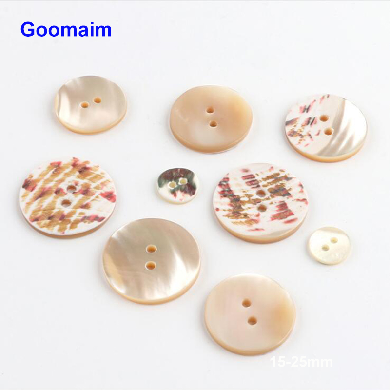 100pcs fashion natural color shelll buttons for dress sewing DIY round clothes high quality