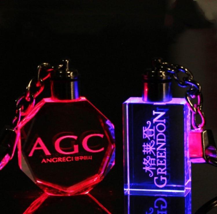 Diseño personalizado Grabado Láser Llavero de Cristal LLEVADO - Para fiestas y celebraciones