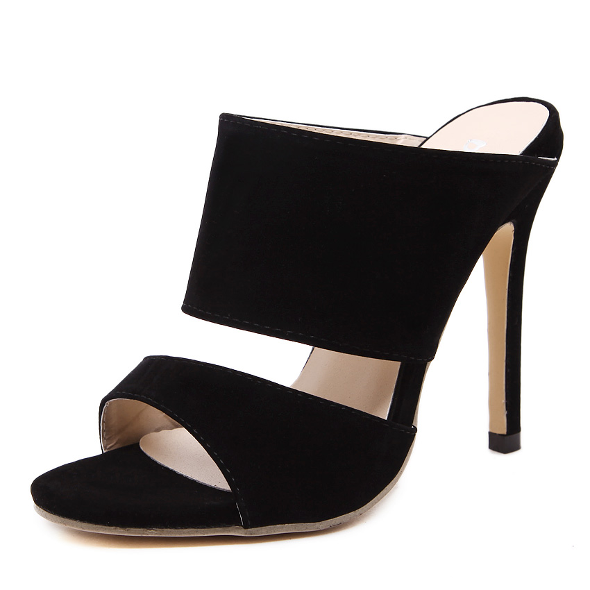 New style women's sexy high heels peep toe stiletto sandals ladies celebrity pumps shoes Black eur size 35-40 oras solina 1994y