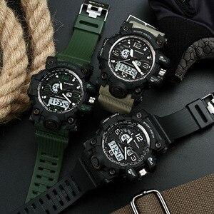 Image 5 - SANDA 742 Military herren Uhren Top Brand Luxus Wasserdichte Sport Uhr Männer S Shock Quarz Uhren Uhr Relogio Masculino 2019