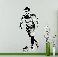 Neymar Wandtattoo Hübscher Fußball-star Für Kind-raum Vinilos Decoratiovs Modernes Design Tropfen Einkaufen Kunstwand SYY455