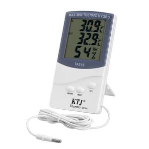 Image 1 - 350PCS באיכות גבוהה 2 ב 1 הדיגיטלי LCD פנימי/חיצוני מדחום מדדי לחות טמפרטורת לחות מד סיטונאי DHL חינם
