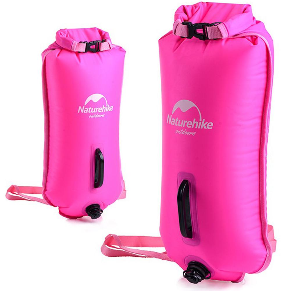 Loyal Inflatable Swimming Flotation Bag Life Buoy Pool Floaties Dry Waterproof Bag For Swimming Drifting With Double Airbag Valve 1pc