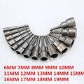 14 шт., шестигранные насадки для дрели, 6-19 мм