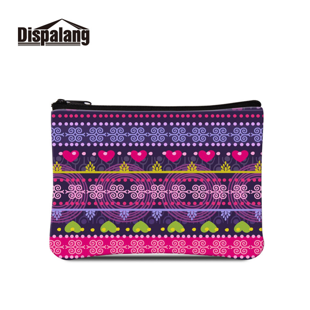 Dispalang Womens Small Storage Bags for Key Card Phone Striped Print Girls Kids Coin Purse Daily Mini Bags Travel Accessories