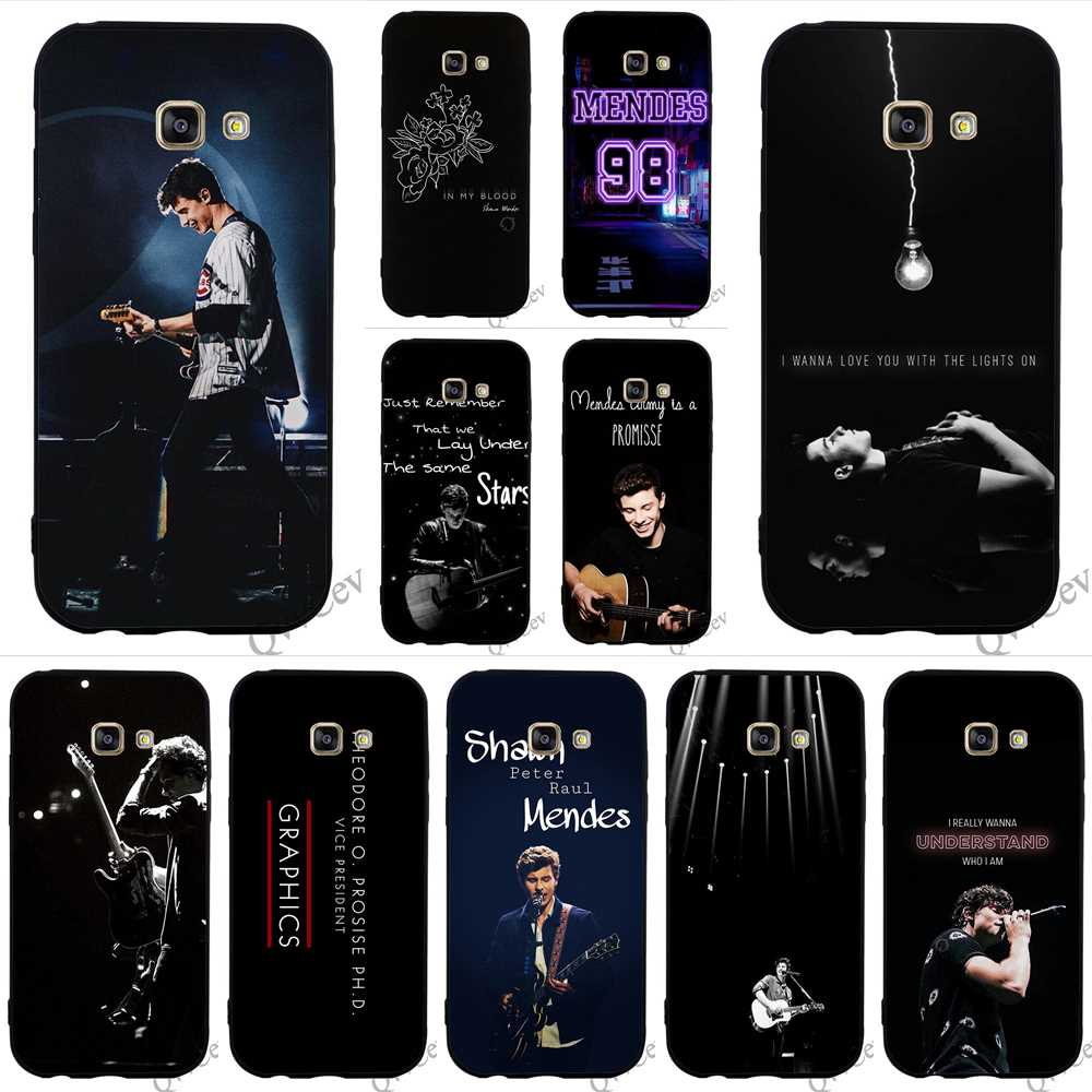 Hybrid Canadian Singer Shawn Mendes Phone Cover for Samsung Galaxy A3 Case A5 A6 S6 S7 Edge S8 S9 Plus Note 8 9 TPU