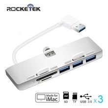 Rocketek multi usb 3 0 hub 3 port adapter splitter with SD TF Card Reader for