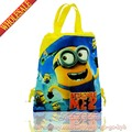 20pcs Minions Despicable Me Cartoon Drawstring Backpack Bags 34*27CM School Furniture Non-Woven Fabric Kids Party & Candy Bags