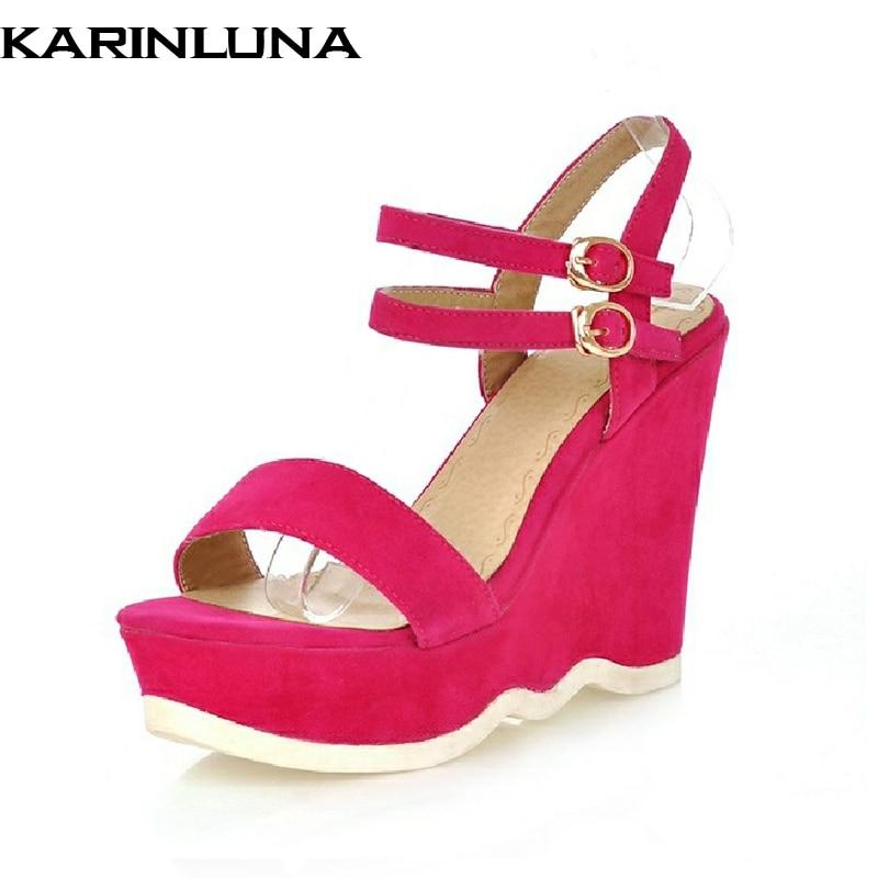 Karinluna नई आगमन wedges उच्च ऊँची - महिलाओं के जूते