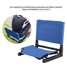 Folding Portable Stadium Bleacher Cushion Chair Comfortable Padded Seat With Back For Grandstand Lawns Backyards(China)