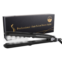 Hair Steam Flat Iron Tourmaline Ceramic Vapor Professional Hair Straightener Hair Straightening Iron 450F