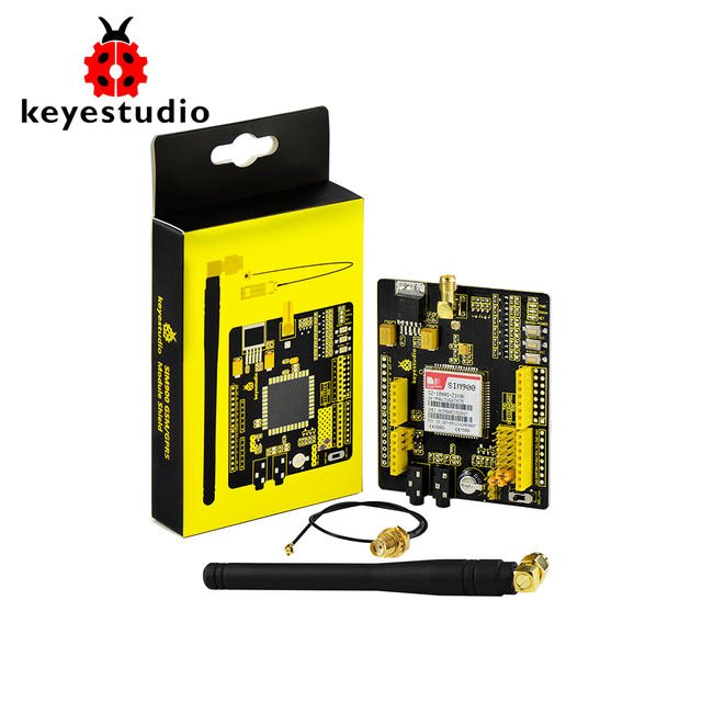 Keyestudio SIM900 GSM модуль GPRS щиты для Arduino UNO и Mega/Леонардо беспроводной модуль с расширением провода