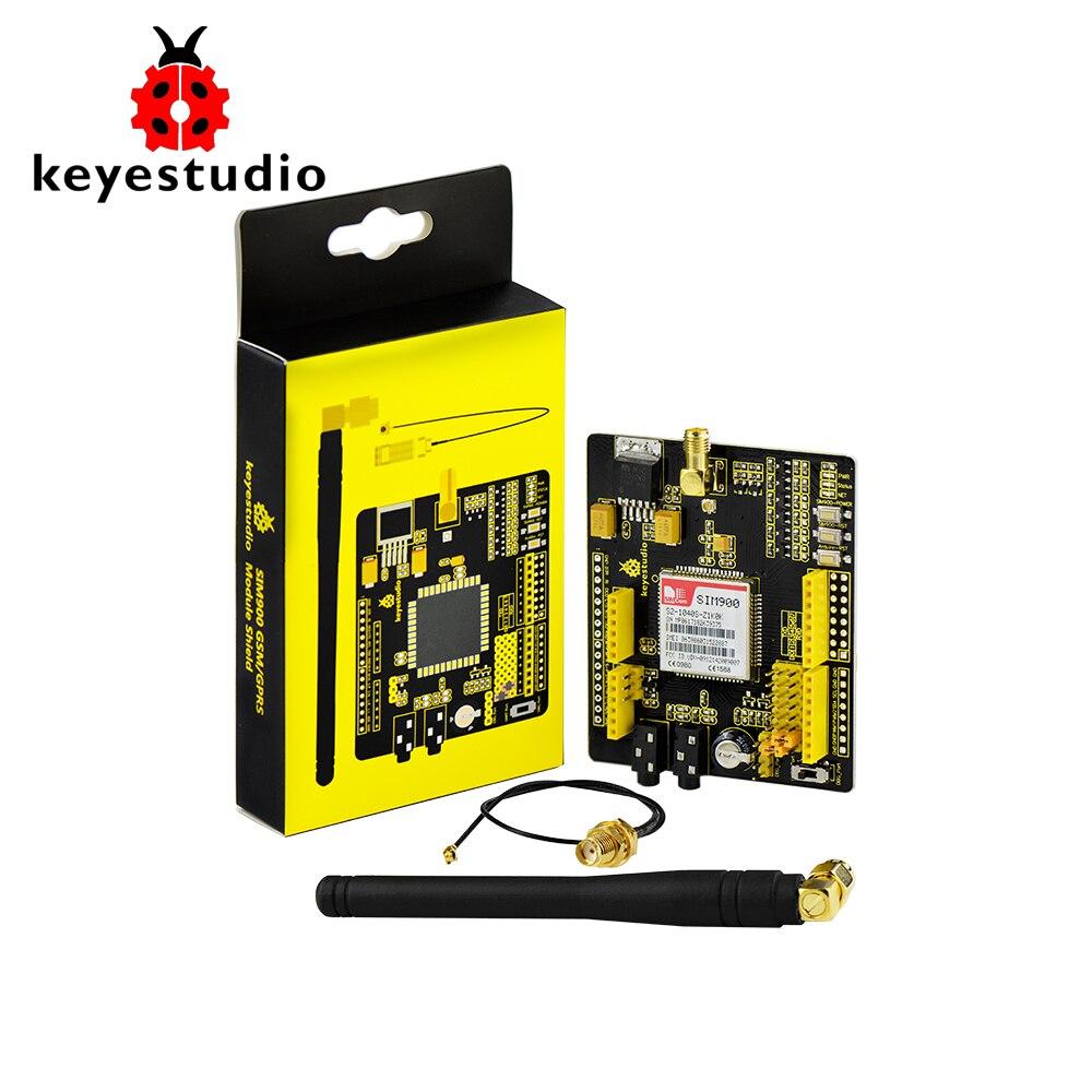 Keyestudio SIM900 GSM GPRS module shields for Arduino UNO and Mega / Leonardo wireless module with extension wire