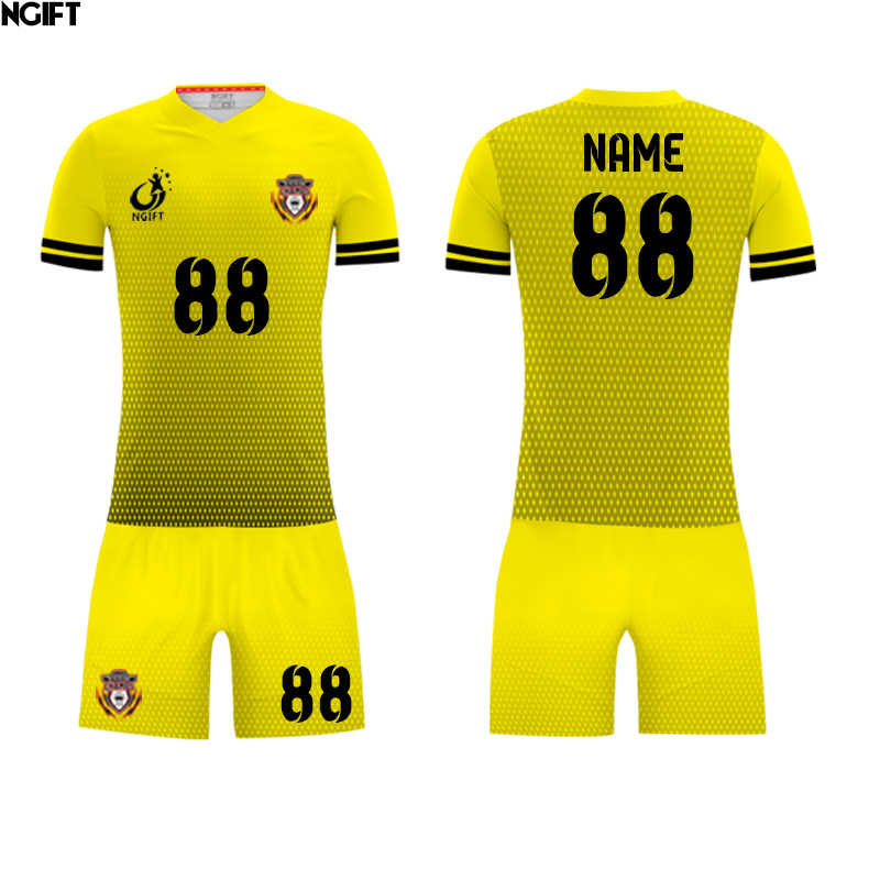 Ngift Sublimated Customize Football Jersey Yellow And Blue Soccer Uniform Custom Soccer Jersey Oem Logos Soccer Sets Aliexpress