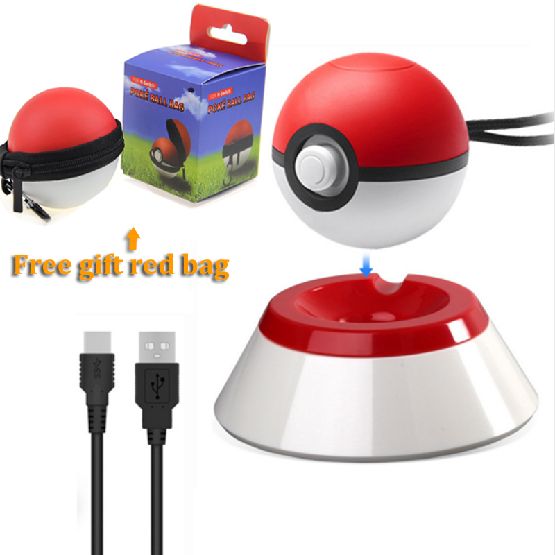 For Nintendo Switch Poke Ball Plus Kit With Base Stand Grip Game Handle Charge Line Pokeball Plus Pack Game Accesseries For NS