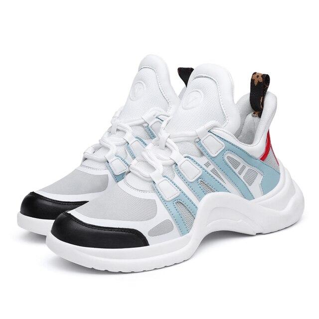 נעלי נשים מעצב סניקרס נעליים יומיומיות 2019 אמיתי עור ולייקרה נשים דירות נעלי הליכה נעלי נעלי גופר
