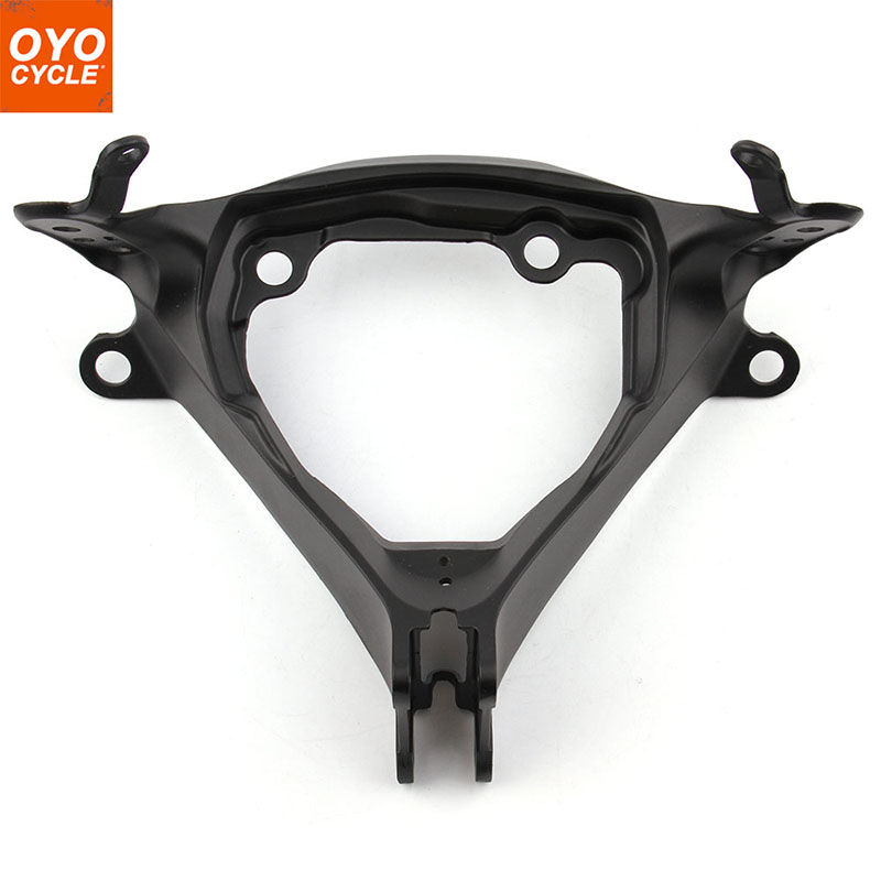 For 2011 Suzuki GSXR600 GSXR750 GSX-R GSXR 600 750 Black Upper Front Headlight Headlamp Bracket Fairing Stay Head Cowling front upper fairing cowling headlight headlamp stay bracket for suzuki gsxr600 gsxr750 gsxr 600 750 k1 k2 k3 2000 2001 2002 2003