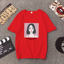 ZOGAA 2019 print o-neck camiseta mujer causal character tee shirt femme for student Korean style