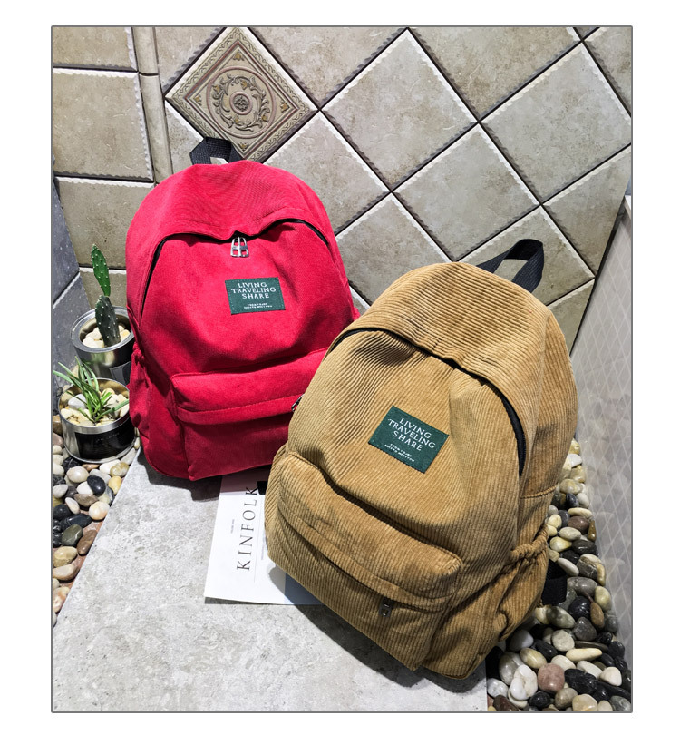 HTB1NYHQBOCYBuNkHFCcq6AHtVXab Women Striped Corduroy Backpack Female Eco Simple Cloth Bag Large Capacity Vintage Travel Bags School Backpack for Teenage Girls