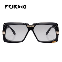 Feirdio Wholesale Woman Male Glasses Coating Sunglasses Vintage Trend Oversize Gafas Oculos De Sol Mirrored Day Night Driving