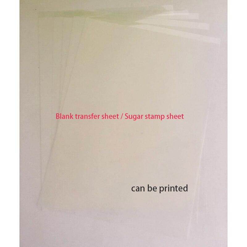 Пустой передачи бумага простыни 25 шт. в партии FDA diy печати Suger лист со штампами для съедобные печатные инструменты для украшения торта