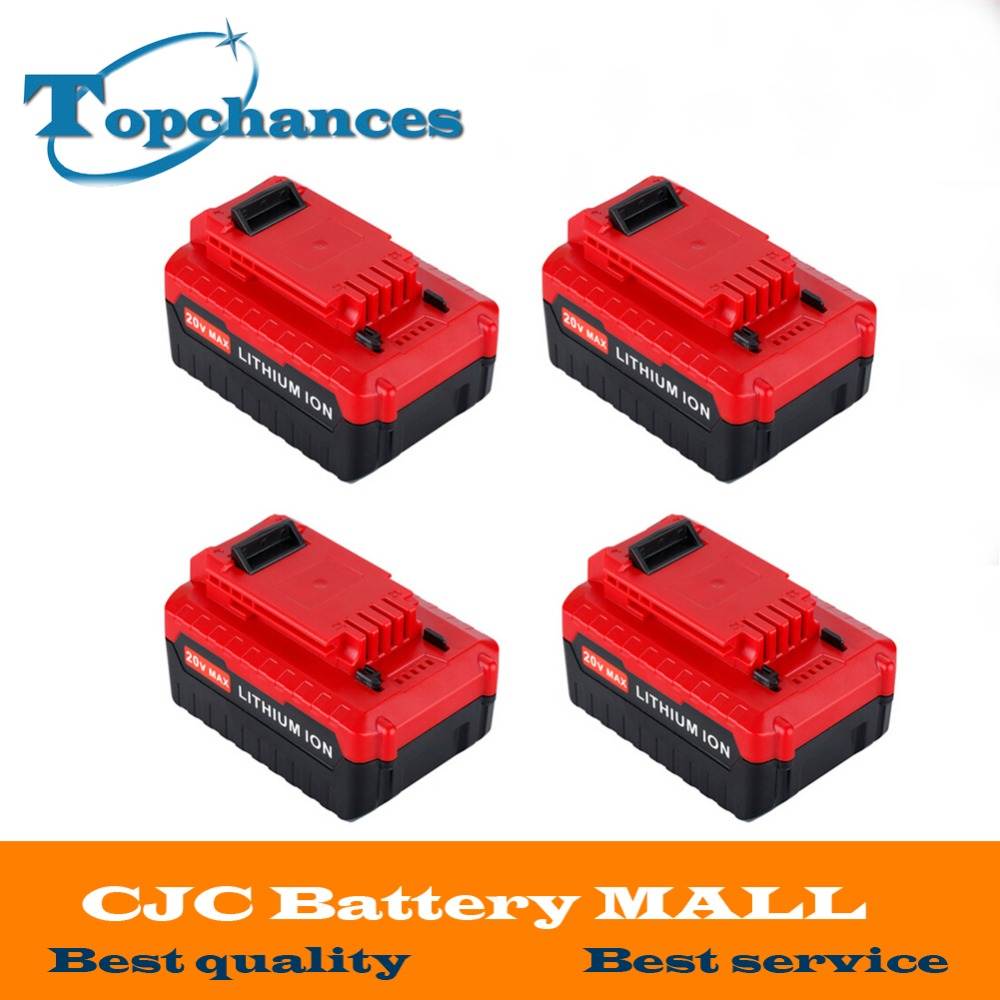 High Quality 4x New 20V Max 4000mAh Li ion Rechargeable Battery for Porter Cable PCC685L PCC680L