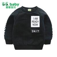 בגדי תינוקות ילדי ילדי צמר חורף סווטשירט סווטשירט תינוק בגדי בני ילדי שרוול ארוך חולצות Tees קוריאה סגנון לבנים
