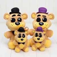 FNAF cinco noches en los juguetes de peluche de freddy Fazbear pesadilla Fredbear muñeca de peluche de freddy dorado El Chip Lefty Rockstar Foxy relleno