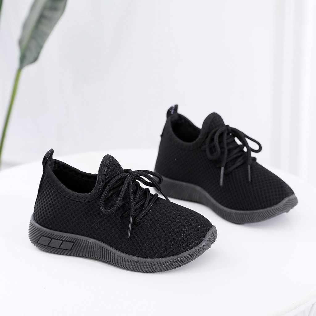 Çocuk örgü ayakkabı ayakkabı bebek çocuk bebek nefes dantel-up düz ayakkabı kız erkek katı spor koşu ayakkabıları rahat ayakkabılar