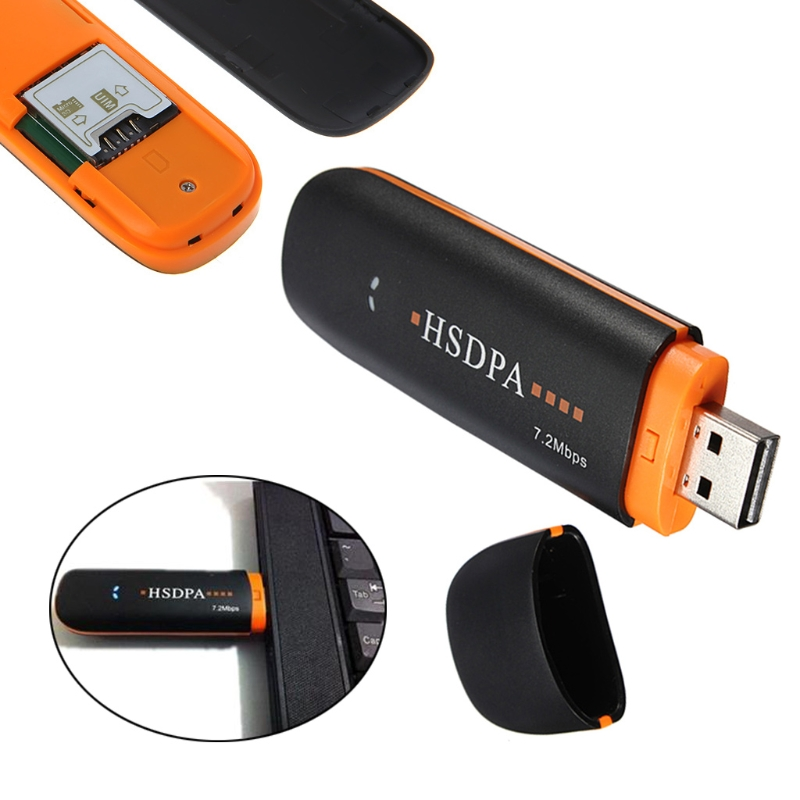 External USB Modem HSDPA USB STICK SIM Modem 7.2Mbps 3G Wireless Network Adapter with TF SIM Card