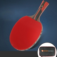 Professional Table Tennis Paddle Ping Pong Racket Soft Sponge Rubber Ergonomic Long/Short Handle Table Tennis Racket